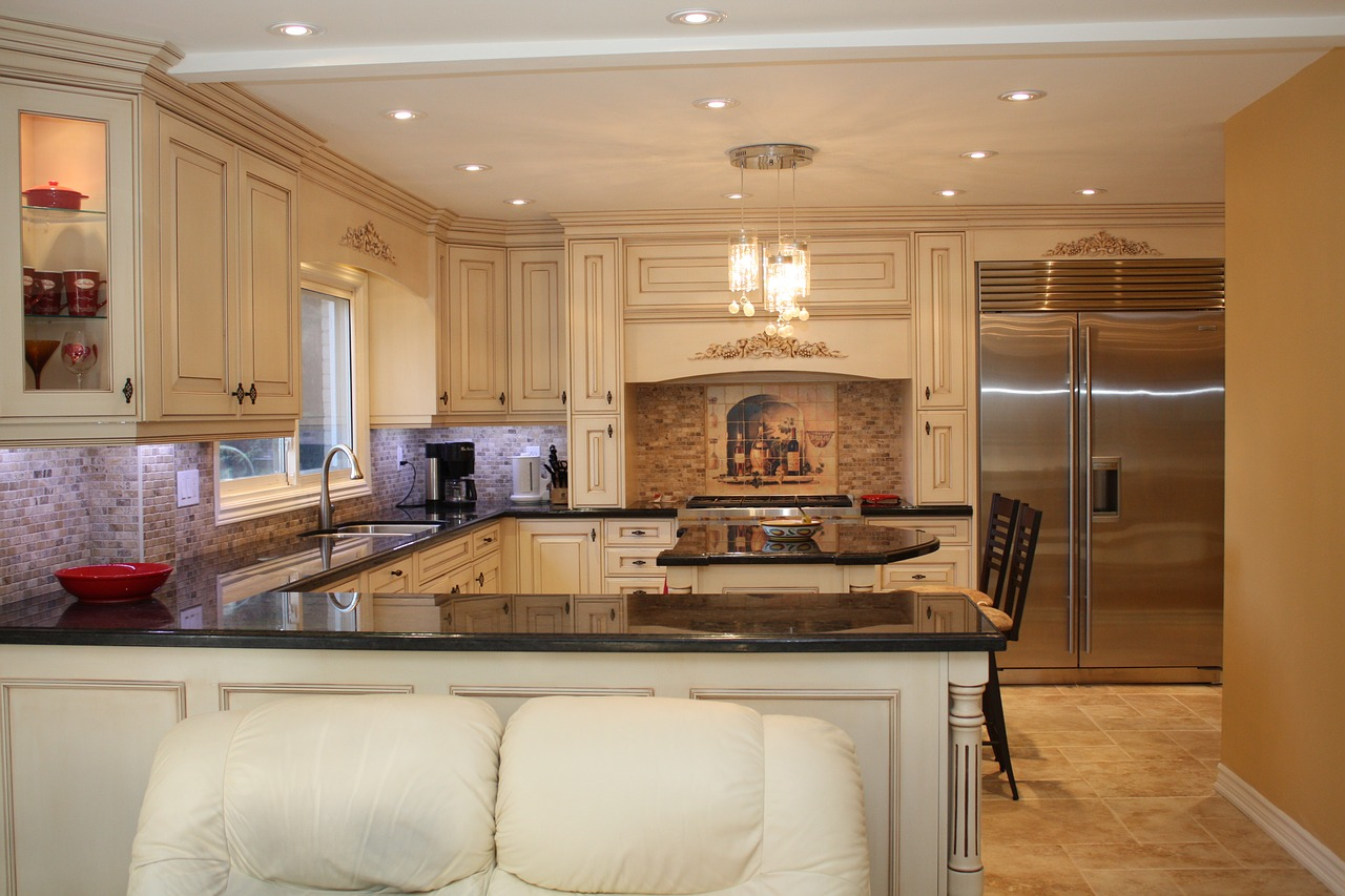 Faultless Custom Marble and Granite Countertops Edges Maximize A Small Kitchen's Space