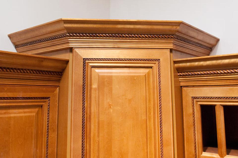 Cinnamon Maple Cabinets